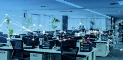 Netzwerkplan über Büro IT-Infrastrukturanalyse